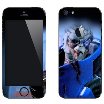 Виниловая наклейка «Гаррус Вакариан - Mass effect» на телефон Apple iPhone 5