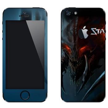Виниловая наклейка «Гидралиск - StarCraft 2» на телефон Apple iPhone 5