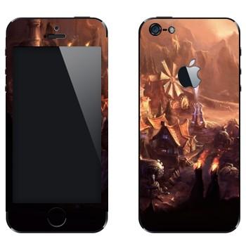 Виниловая наклейка «Город - League of Legends» на телефон Apple iPhone 5