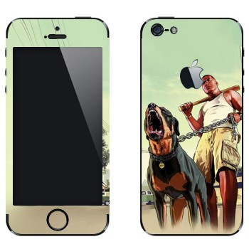 Виниловая наклейка «GTA 5 - Dawg» на телефон Apple iPhone 5