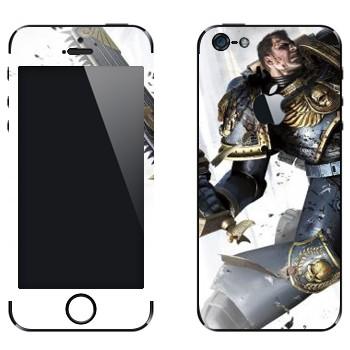 Виниловая наклейка «Космический пехотинец - Warhammer 40k» на телефон Apple iPhone 5