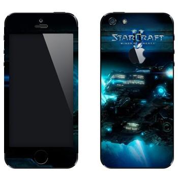 Виниловая наклейка «Крейсер - StarCraft 2» на телефон Apple iPhone 5