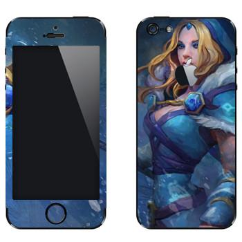 Виниловая наклейка «Кристал Мэйден - Dota 2» на телефон Apple iPhone 5