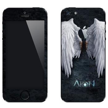 Виниловая наклейка «Крылья ангела - Aion» на телефон Apple iPhone 5