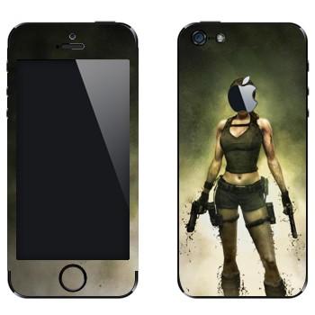 Виниловая наклейка «Лара Крофт - Tomb Raider» на телефон Apple iPhone 5