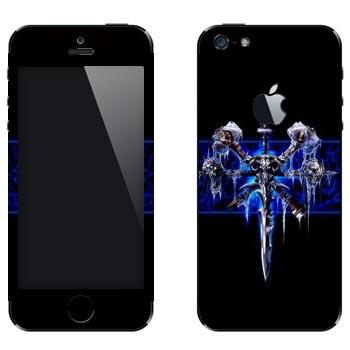 Виниловая наклейка «Легендарный меч «Ледяная скорбь» - Warcraft» на телефон Apple iPhone 5