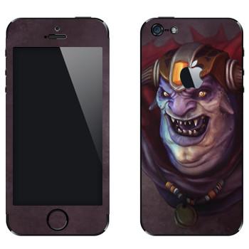 Виниловая наклейка «Лион - Dota 2» на телефон Apple iPhone 5