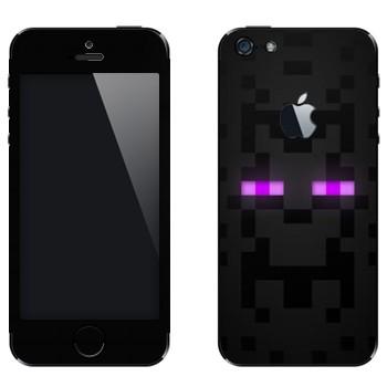 Виниловая наклейка «Лицо Enderman - Minecraft» на телефон Apple iPhone 5