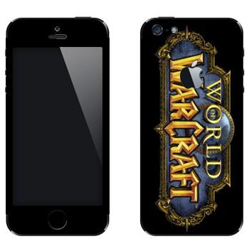 Виниловая наклейка «Логотип World of Warcraft вертикальный» на телефон Apple iPhone 5