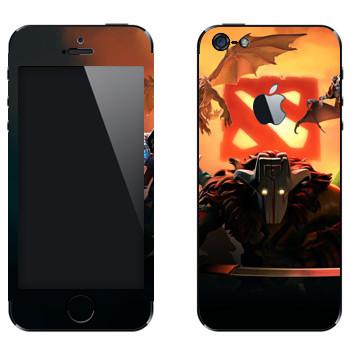 Виниловая наклейка «Логотипы с героями - Dota 2» на телефон Apple iPhone 5