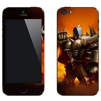 Виниловая наклейка «Мордекайзер - Мастер металла» на телефон Apple iPhone 5