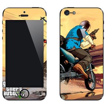 Виниловая наклейка «Мотоцикл - GTA5» на телефон Apple iPhone 5