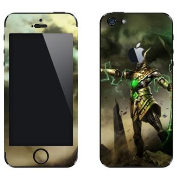 Виниловая наклейка «Насус - Хранитель песков» на телефон Apple iPhone 5