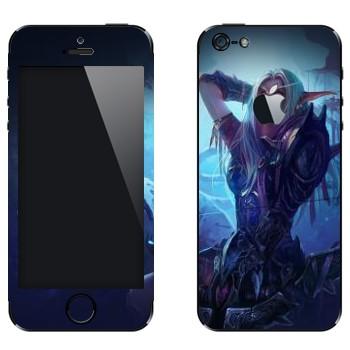 Виниловая наклейка «Ночной Эльф - World of Warcraft» на телефон Apple iPhone 5