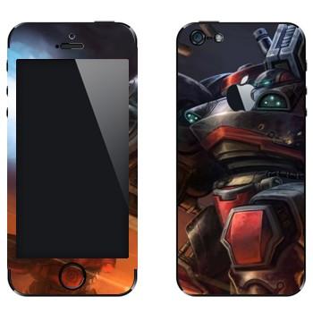 Виниловая наклейка «Огнеметчик - StarCraft 2» на телефон Apple iPhone 5