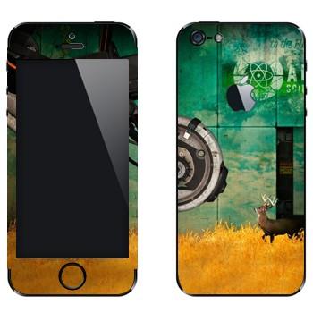 Виниловая наклейка «Олень - Portal 2» на телефон Apple iPhone 5