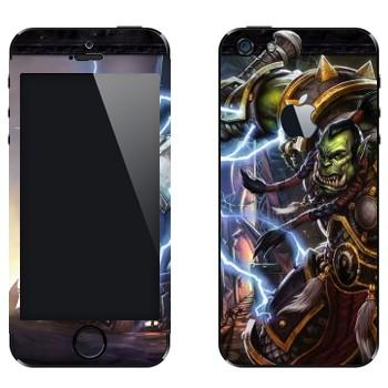 Виниловая наклейка «Орк - World of Warcraft» на телефон Apple iPhone 5