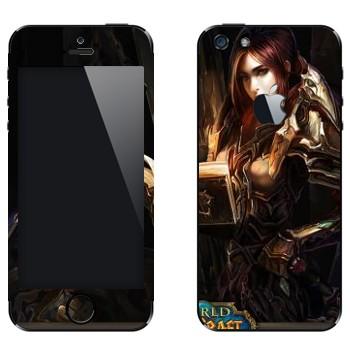 Виниловая наклейка «Паладин человек - World of Warcraft» на телефон Apple iPhone 5