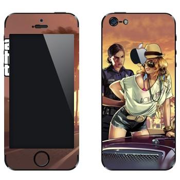 Виниловая наклейка «Полиция GTA» на телефон Apple iPhone 5