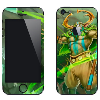 Виниловая наклейка «Пророк природы - Dota 2» на телефон Apple iPhone 5