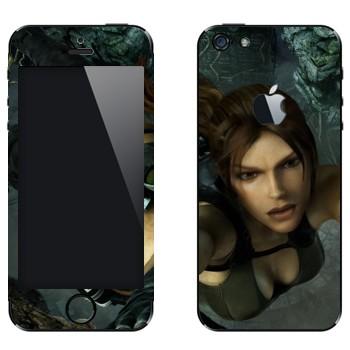 Виниловая наклейка «Расхитительница гробниц» на телефон Apple iPhone 5