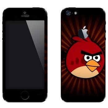 Виниловая наклейка «Рэд - Angry Birds» на телефон Apple iPhone 5