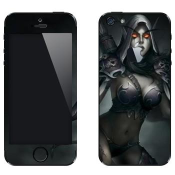 Виниловая наклейка «Сильвана - Dota 2» на телефон Apple iPhone 5