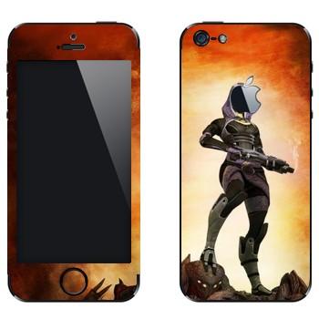 Виниловая наклейка «Тали'Зора - Mass effect» на телефон Apple iPhone 5