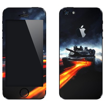 Виниловая наклейка «Танк Абрамс - Battlefield» на телефон Apple iPhone 5