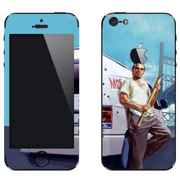 Виниловая наклейка «Тревор - GTA5» на телефон Apple iPhone 5
