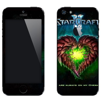 Виниловая наклейка «Валентинка из личинок - StarCraft 2» на телефон Apple iPhone 5