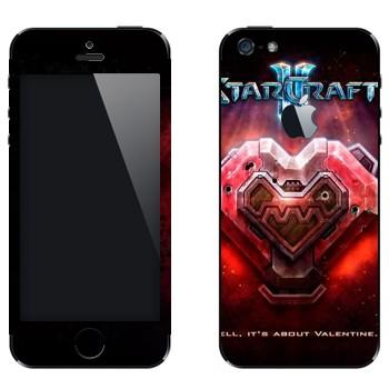 Виниловая наклейка «Валентинка металлическая - StarCraft 2» на телефон Apple iPhone 5