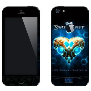 Виниловая наклейка «Валентинка в стиле протосов - StarCraft 2» на телефон Apple iPhone 5