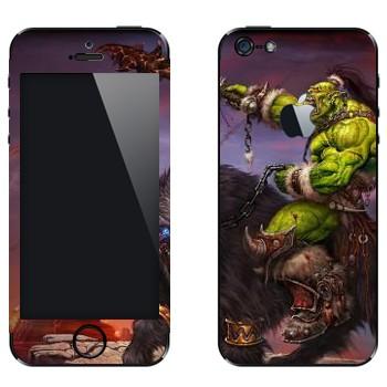 Виниловая наклейка «Воин Орк - World of Warcraft» на телефон Apple iPhone 5