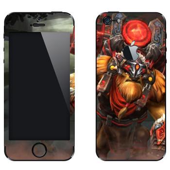 Виниловая наклейка «Землекрушитель - Dota 2» на телефон Apple iPhone 5