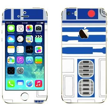 Виниловая наклейка «R2-D2» на телефон Apple iPhone 5S