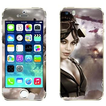 Виниловая наклейка «Блонди - Запрещённый приём» на телефон Apple iPhone 5S