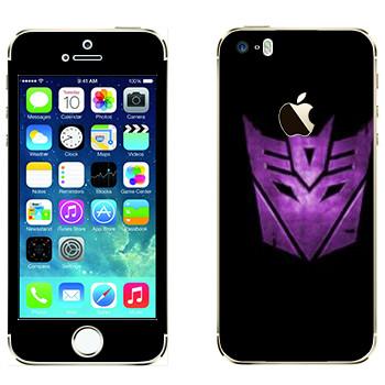 Виниловая наклейка «Десептиконы эмблема фиолетовая» на телефон Apple iPhone 5S