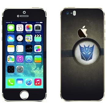 Виниловая наклейка «Эмблема Десептиконов» на телефон Apple iPhone 5S