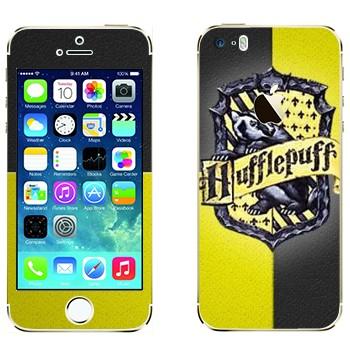 Виниловая наклейка «Герб Пуффендуя - Гарри Поттер» на телефон Apple iPhone 5S