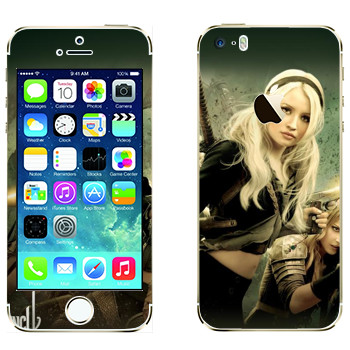 Виниловая наклейка «Главные героини - Запрещённый приём» на телефон Apple iPhone 5S