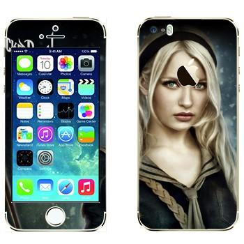 Виниловая наклейка «Куколка - Запрещённый приём» на телефон Apple iPhone 5S