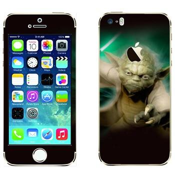 Виниловая наклейка «Магистр Йода» на телефон Apple iPhone 5S