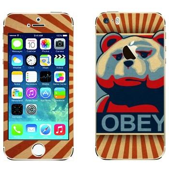 Виниловая наклейка «Медведь Тед - OBEY» на телефон Apple iPhone 5S
