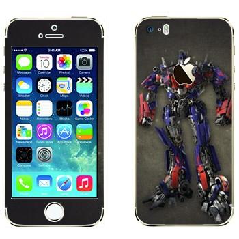 Виниловая наклейка «Оптимус - Трансформеры» на телефон Apple iPhone 5S