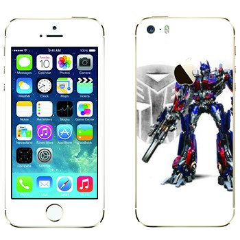 Виниловая наклейка «Оптимус Прайм - Трансформеры» на телефон Apple iPhone 5S