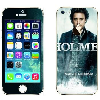 Виниловая наклейка «Роберт Дауни младший - Шерлок Холмс» на телефон Apple iPhone 5S