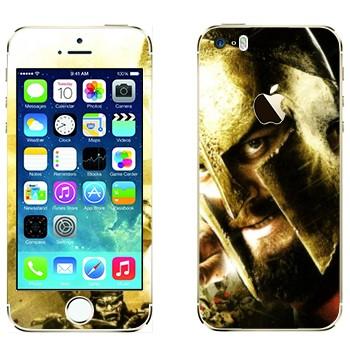 Виниловая наклейка «Спартанец - 300 спартанцев» на телефон Apple iPhone 5S