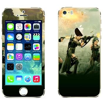 Виниловая наклейка «Запрещённый приём» на телефон Apple iPhone 5S