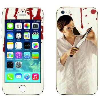 Виниловая наклейка «Dexter» на телефон Apple iPhone 5S